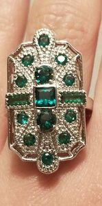 Jewelry - 🆕️FILIGREE Italian Zircon Cocktail Ring Sz 6